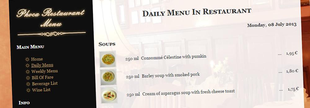 36c0c6b5e Phoca Restaurant Menu Version 3.1.2 Released