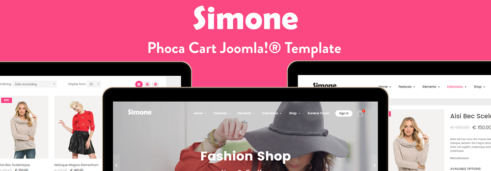 Simone Free Joomla E Commerce Template Released By Joomforest