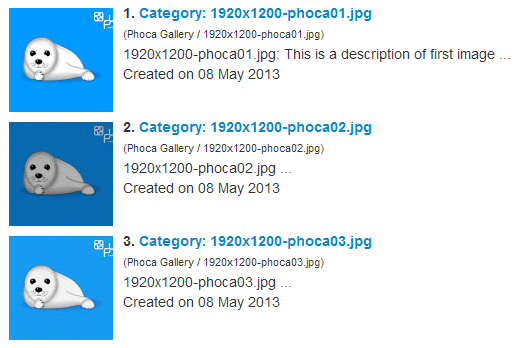 Phoca Gallery Search Results - Images