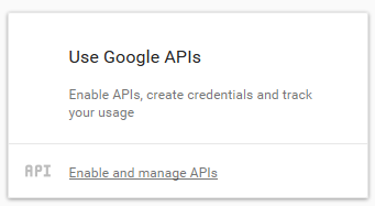 Google Maps API - manage API
