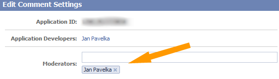 Facebook Comments Administration Settings