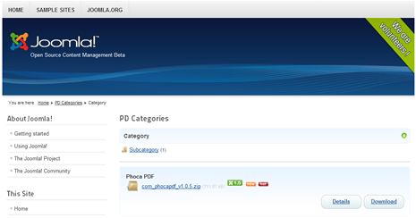 Phoca Download - Category View - Joomla! 1.6