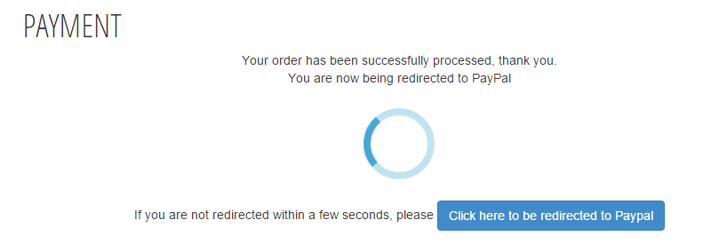 PayPal redirect