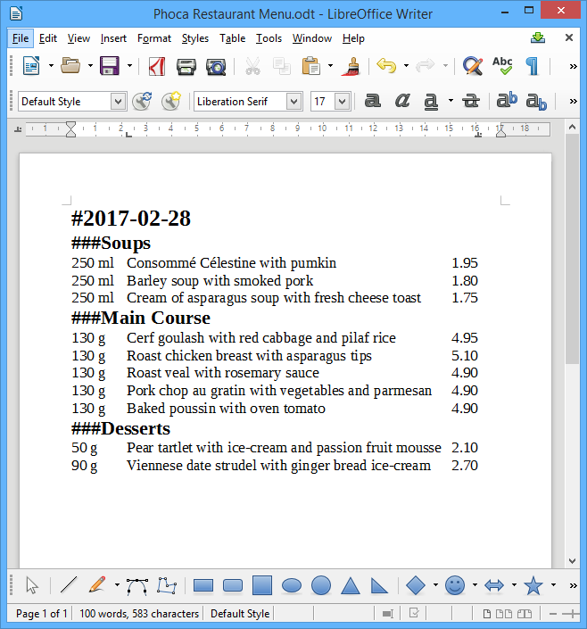 078a747e1 Phoca Restaurant Menu - preparing menu in office document