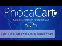 PhocaCart - Quick e-shop setup with Getting Started Wizard